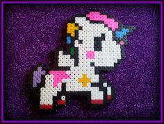 Perler beads unicorn magnet by PsychoDollShop on Etsy, Bead Crafts, Arts And Crafts, Diy Crafts, Hama Beads, Beaded Animals, Pony Beads, Holiday Tree, Beading Patterns, Pixel Art
