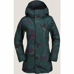 More than just a good-looking layer, the Women's W GORE-TEX® Jacket from Volcom has a feminine and relaxed long fit silhouette for a flattering fit plus great weather protection. That plus the extra protection of the weather-resistant GORE-TEX®