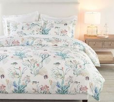 Shop Pottery Barn's soft, stylish bedding sets and create the ultimate retreat. Our collections include duvet covers, comforters, quilts, bed sheets & more. Coastal Bedding, Coastal Bedrooms, Dorm Bedding, Beach Bedrooms, Bedroom Furniture, Home Furniture, Bedroom Decor, Master Bedroom, Furniture Ideas