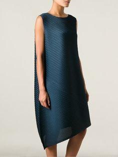 Pleats Please By Issey Miyake asymmetric textured dress
