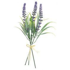 Branches de lavande avec fleurs et feuilles artificielles de 25 cm, lavande pour décoration florale.
