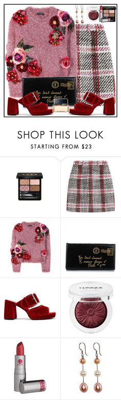 """""""All In Fun"""" by winscotthk ❤ liked on Polyvore featuring Gucci, Carven, Dolce&Gabbana, Yves Saint Laurent, Finery London, Clinique, Lipstick Queen and Givenchy"""