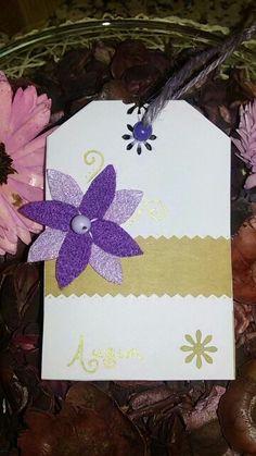 Biglietto violet flower
