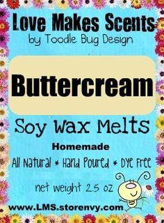 Soy Wax Melts  Buttercream by ToodleBugDesign on Etsy, $3.50