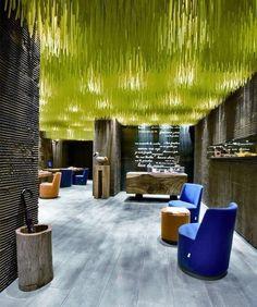 underwater world ceiling Café Design, Store Design, Design Blogs, Design Ideas, Lobby Design, Design Hotel, Retail Interior, Interior And Exterior, Interior Design