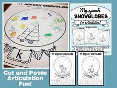 MY SPEECH SNOWGLOBES {FOR ARTICULATION & PHONEMIC AWARENESS!) -