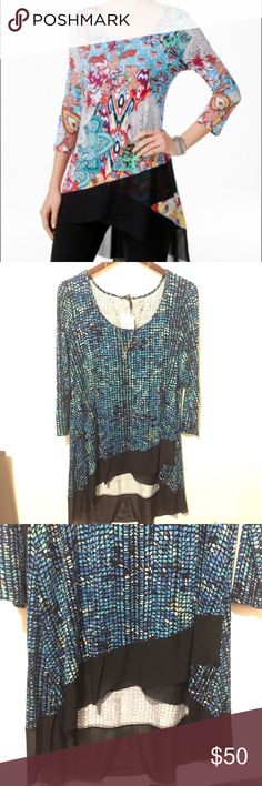 🆕NWT CABLE & GAUGE HIGH LOW TUNIC DRESS NWT CABLE & GAUGE HIGH LOW BLUE BLACK RUFFLE TRIM TUNIC TOP ⭐️SAME STYLE DIFFERENT COLOR⭐️ SIZE XL LEN 39 ACROSS CHEST 21 PLEASE ASK ANY QUESTIONS ❤️❤️NEW INVENTORY❤️❤️  ✅BUNDLE AND SAVE ON SHIPPING 20% OFF ON ANY BUNDLES MY PRICES ARE GREAT AND THERE NWT OR NWOT UNLESS STATED  THERE NAME BRAND SELLING THEM FOR CHEAP✅  ***DONT FORGET TO FOLLOW I DELETE AND RELIST***  # GREAT DEALS Cable & Gauge Tops Tunics