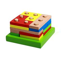 Wooden Educational Preschool Shape Early Developmental Geometric Board Block Stack Sort Chunky Puzzle Toys Birthday Gift Toy for age 3 4 5 Years Old and Up Kid Children Baby Toddler Boy Girl >>> Continue to the product at the image link.Note:It is affiliate link to Amazon.