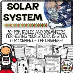 Space Science / Astronomy Printables for the Elementary GradesSolar System printables comes with over 30 must have printables for your elementary science solar system unit!  Perfect for assessments, homework, science centers, writing assignments, research organizers, small groups, large groups, and so much more!