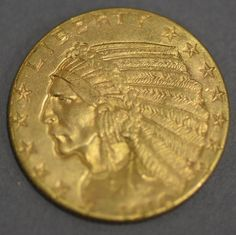 1910 Indian 5 dollar gold coin ~ Realized Price $1,080.00