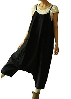 Minibee Loose Sleeveless Jeans Harem Pants Jumpsuits (Black-Thick Type) Minibee http://www.amazon.com/dp/B01AD3UCQU/ref=cm_sw_r_pi_dp_a-2Kwb0S57RDN