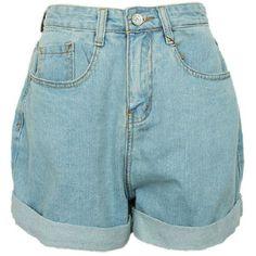 Oversized Boyfriend Style High Waist Denim Shorts with Rolled Cuffs