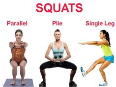 Squats activate close to 200 muscles. Squats are a fundamental exercise that offers a variety of different movements. Learn three different types of squats and see over seventeen different versions. Fitness Workouts, Fitness Motivation, Fitness Tips, Daily Motivation, Squats Fitness, Butt Workouts, Workout Exercises, Workout Routines, Squat Routine