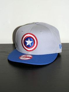 NEW ERA 9FIFTY Superhero Team Hero Capt America Snapback Cap 9b59d109079