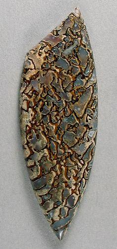 Blue DINOSAUR BONE designer cab Silverhawk's designer gemstones. Dinosaur Bones, Dinosaur Fossils, Minerals And Gemstones, Rocks And Minerals, Stones And Crystals, Gem Stones, Stones For Jewelry Making, Fossil Jewelry, Beautiful Rocks
