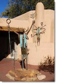 sante-fe-garden-art-moose-statue --- I almost cried when I saw this in Santa Fe in 2003. I don't know why a praying moose touched my soul.