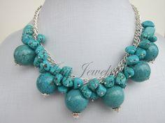 Paimon: Elegant Multi-Size & Shape Turquoise by INJIJEWELRY on Etsy