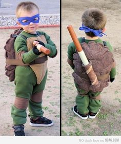 "tmnt. Vicky says, ""I love making costumes for my grandchildren. I hand made the turtle shells out of fabric and ."""