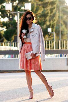 Studded Collar and Neon Orange