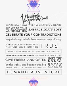 Manifesto for Spirited Souls from In Spaces Between http://inspacesbetween.com/inspiration/manifesto-for-spirited-souls/
