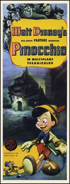 Movie Poster. Walt Disney's Pinocchio (1940)