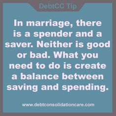 #DailyTip There is a saver and spender in marriage. Work with your spouse and try to create a perfect balance between savings and spending. https://plus.google.com/u/0/b/117849043945580086933/