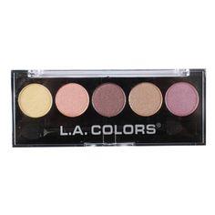 L.A. Colors Paleta de Sombras metálicas, 5 cores.