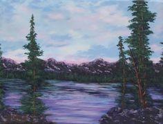 Colorado Sunrise Pink and Blue skies Mountain Peaks by PatAdamsArt