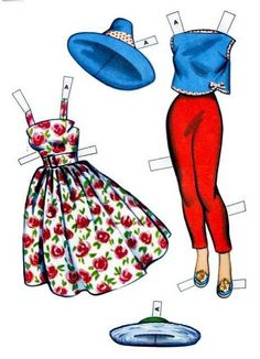 IMAGES Amarna: PAPER DOLLS - Sisters Betty and Alice