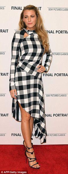 Her frock's asymmetrical hemline showcased the former Gossip Girl star's legs...