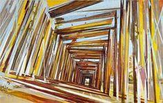 David Schnell  Gelbe Scheune, 2005, Oil on Canvas, 210 x 330 cm, Hall Collection  Courtesy Galerie EIGEN + ART Leipzig/Berlin