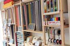 Brin de Cousette, PARIS Brin, Craft Shop, Haberdashery, Dressmaking, Bookcase, Interior Design, Sewing, Bons Plans, Shopping