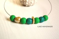 Unique handmade beads necklace/Casual office by GATODesign on Etsy