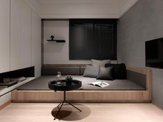 French Home Interior .French Home Interior Cama Tatami, Tatami Bed, Tatami Room, Home Decor Bedroom, Modern Bedroom, Platform Bedroom, Platform Beds, Hotel Interiors, House Rooms