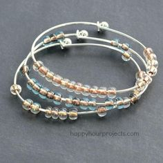 DIY 2-Minute Stacking Beaded Bangle Bracelet