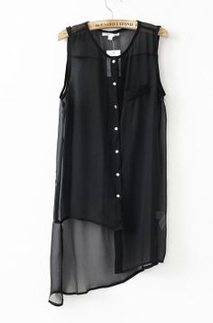 Asymmetrical Sleeveless Shirt