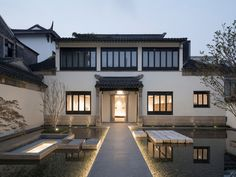 Architecture Studio Located in the core of the historic town of Suzhou, China, the site covers about sqm, once was the residence of family Bei. The traditional Chinese garden consists of four ancient wooden . Suzhou, Chinese Architecture, Interior Architecture, Tropical Architecture, Traditional Chinese House, Chinese Style, Asian House, Chinese Garden, Chinese Courtyard
