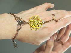 Copper Slave Bracelet Ring Jewelry by TheMysticalOasisGlow on Etsy, $25.00