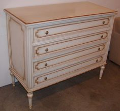 How to paint french provincial furniture.