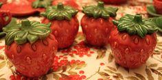 Strawberry condiment jars