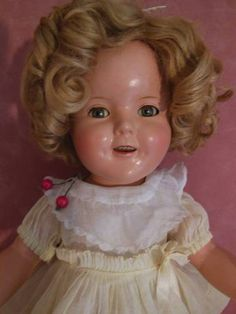 COMPOSITION IDEAL SHIRLEY TEMPLE DOLL RARE HARD TO FIND DRESS W CHERRIES