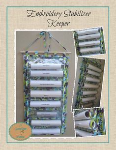 Embroidery Stabilizer Keeper Pattern - Instant Download. $6.00, via Etsy.