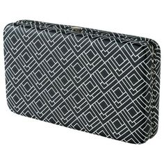 Merona® Geometric Hard Case Wallet - Black