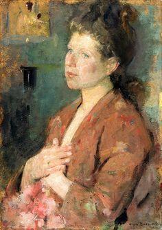 Boznanska, Olga (Polish, 1865-1940) - Portrait of a Young Lady - 1890-99