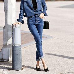Ssongbyssong Korean KPOP Fashion Winter Kiss Classic Rise Skinny Jeans Luxury #ssongbyssong #SlimSkinny