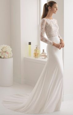 Courtesy of Aire Barcelona Wedding Dresses; www.airebarcelona.com; Wedding dress idea.