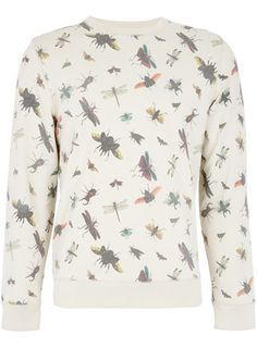 Off White Bugs Patterned Sweatshirt topshop