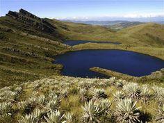 Las lagunas de Siecha, Parque Nacional Natural Chingaza, en Guasca, Cundinamarca, Colombia