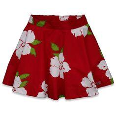 Hollister Seascape Skirt ($20) ❤ liked on Polyvore featuring skirts, red floral, floral skirt, red vintage skirt, floral printed skirt, embroidered skirt and floral vintage skirt