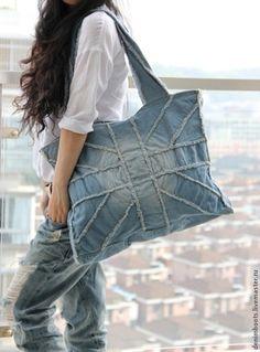Женские сумки ручной работы. Ярмарка Мастеров - ручная работа. Купить Сумка из джинсы-7. Handmade. Голубой, молодежный стиль